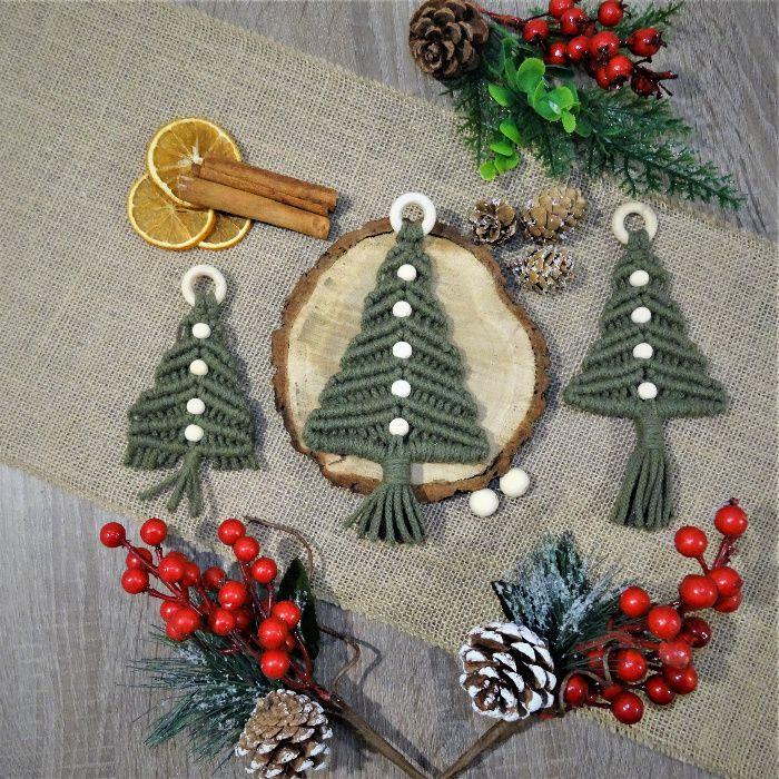 Choinki - ręcznie robione ozdoby świąteczne - HandMade - Makrama Bydgoszcz - image 1