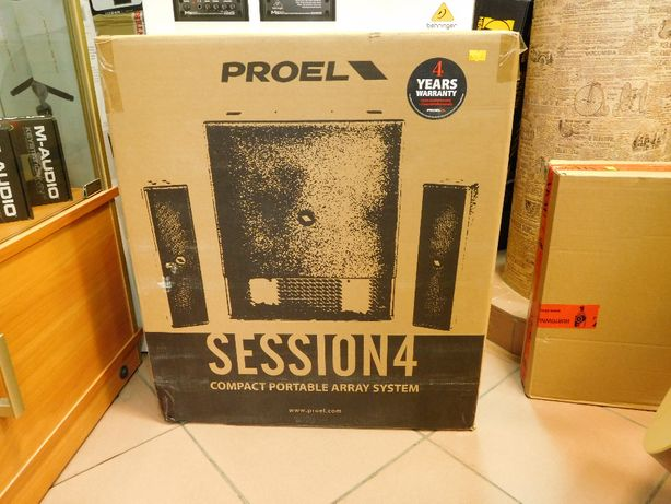 Proel Session 4 system audio 2+1 1000W Nowy! Super cena