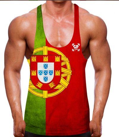 Stringer Ginásio Bandeira Portuguesa -XXL - Marca GETDOWN GYMWEAR