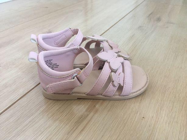 Sandałki Reserved 21 22 dziewczęce różowe sandały dla dziewczynki