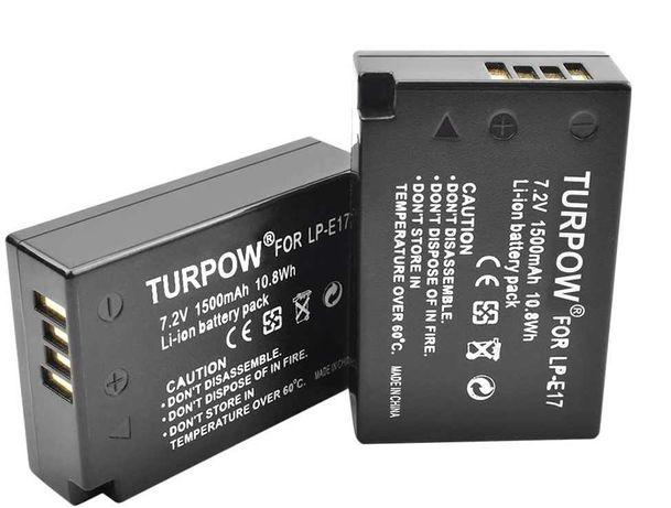 Conjunto de 2 baterias LP-E17 para Canon, marca Turpow