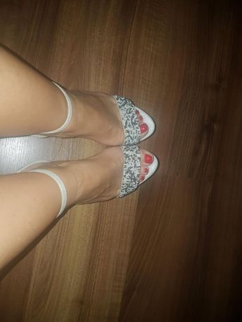 Srebrne sandały New Look 37