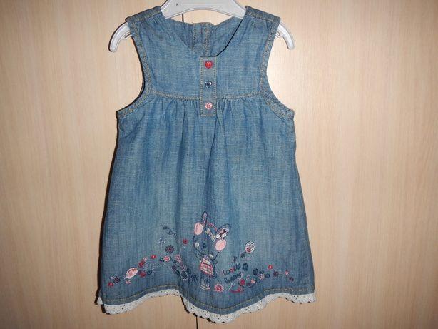 Платье george р.80cм (9-12мес) джинсовое