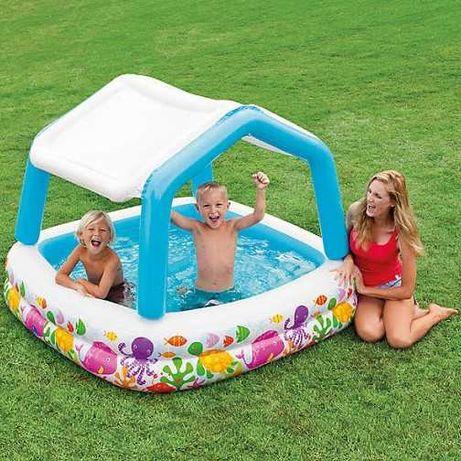 надувной бассейн детский с бортом съемная крыша - Intex Новый