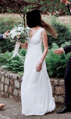 Romantyczna i skromna suknia ślubna BOHO