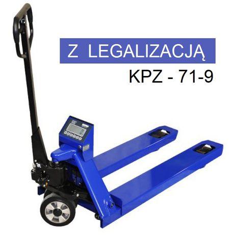 Najtaniej! Wózek paletowy z wagą KPZ 2200kg z legalizacją