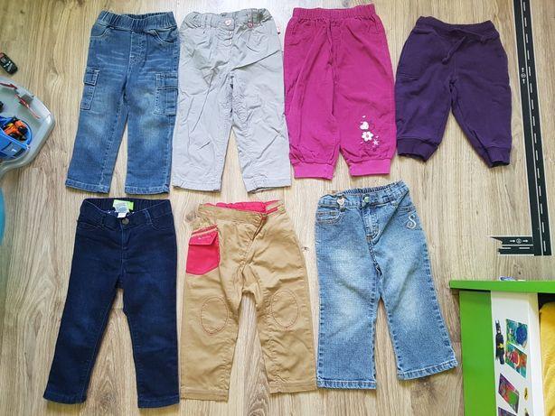Spodnie jeansowe rurki slimy Decatlon spodenki, ocieplane r. 86