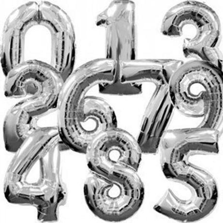Фотозона Надувны цифры шары серебро 76 см (1,2,3,4,5,6,7,8,9,0) 35 грн