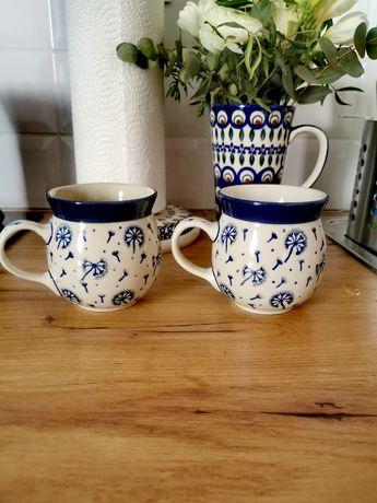 Dwa kubeczki beczulki 220ml Ceramika Artystyczna Bolesławiec