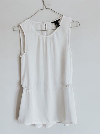 Biała bluzka koszulowa rozmiar XS 34
