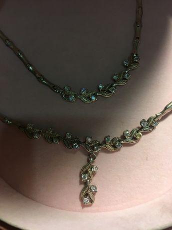 Продам шикарный набор-серебро 925 пробы натуральным камнем-цитрин