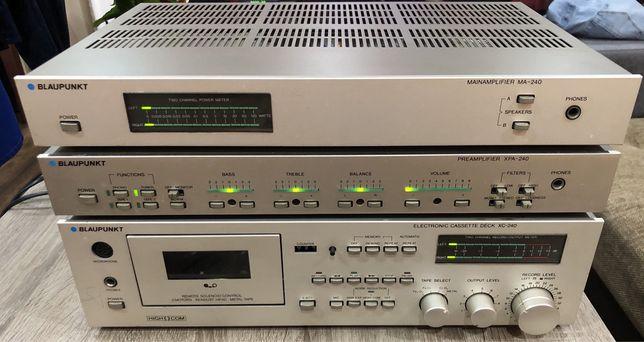 Przedwzmacniacz,końcówka mocy, deck Blaupunkt MA-240 + XPA240 + XC240.