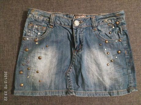 Spódnica jeans M L
