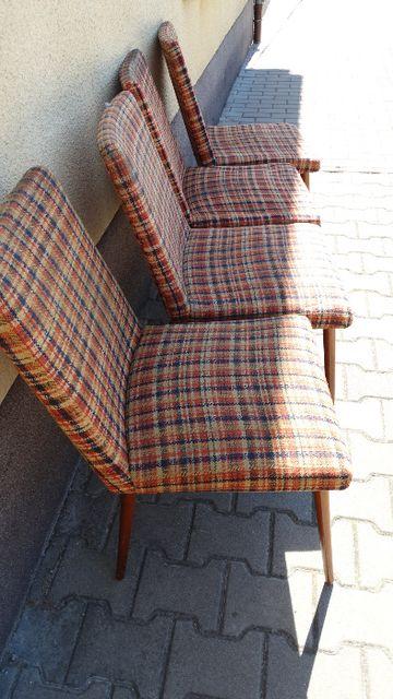 Krzesła PRL vintage, różne