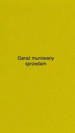 Garaż murowany w Mysłowicach