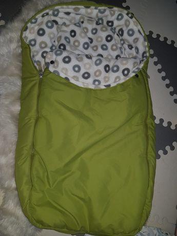 Śpiworek niemowlęcy zimowy do wózka 80 cm
