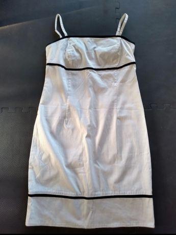Cotton club retro vintage biała bawełniana sukienka rozmiar 42