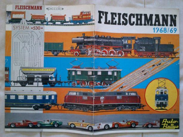 Catalogo Fleischmann comboios / brinquedos HO 1968/1969, em Alemão
