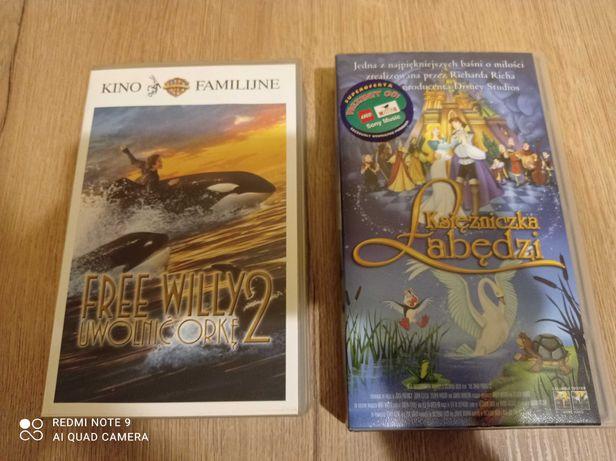 Kasety video, VHS; Księżniczka Łabędzi i Uwolnić Orkę 2