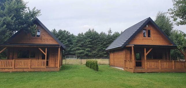 Domek z drewna, domki z bala nad jeziorem Głuszyńskim Orle