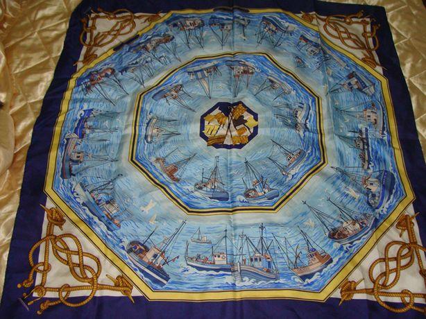 Hermes Torana оригинал 88Х88 платок Retour de Peche