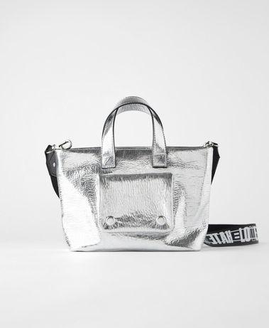 Nowa mini torebka typu shopper ZARA