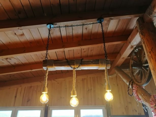 Lampa, żyrandol, loft, Led, retro, stylowa, Handmade.