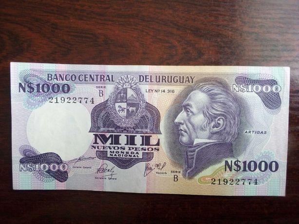 Banknot 1000 pesos Urugwaj