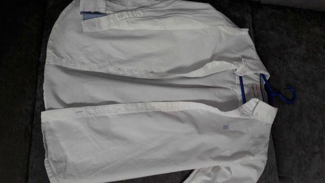 Biała koszula chłopięca 140