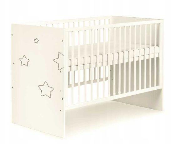 KLUPŚ Łóżko dziecięce TINO biały STARS 120x60 Dostawa od 0zł