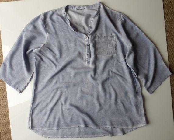 Bluzka koszula jeansowa XXXL Gina Benotti 48 50 dla puszystej zwiewna