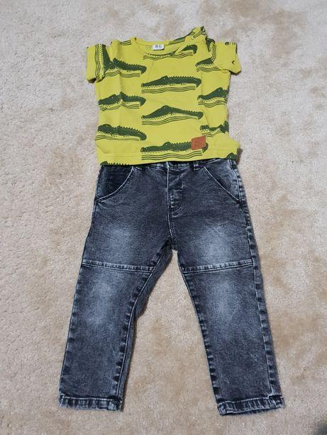 Komplecik koszulka Zezuzulla spodnie Zara 86/92