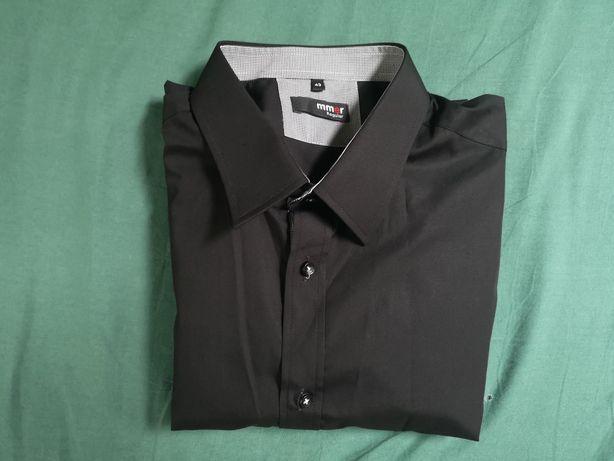 Koszula z Krótkim rękawem czarna rozmiar 43