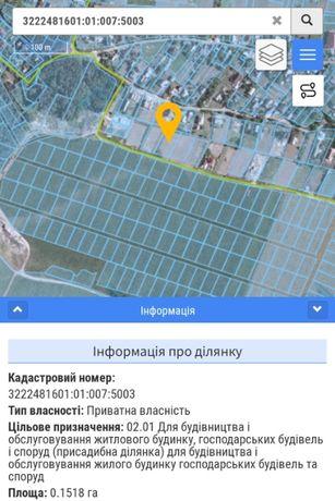 Продам земельну ділянку с.Гатне Києво-Святошинський рн Київська обл