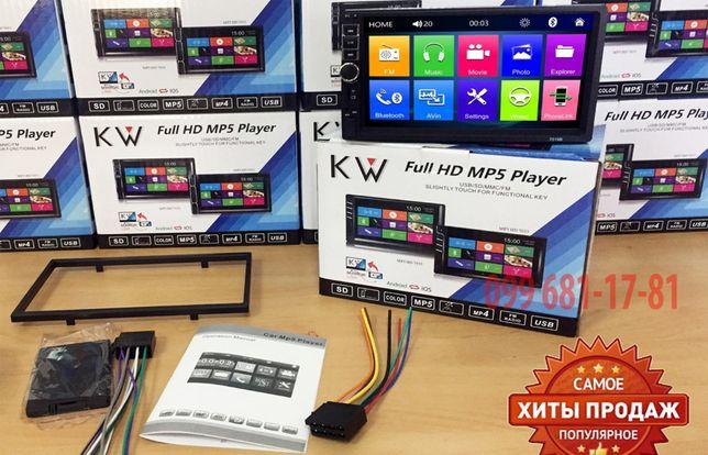 "PIONEER 7010 Автомагнитола 2 DIN TFT 7"", AUX, microSD, USB, FM, ХИТ!"