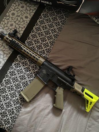 Arma de airsoft SA-C07 + equipamento