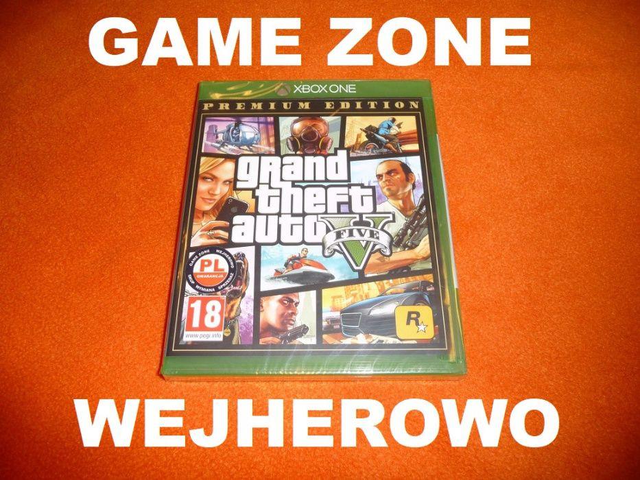 GTA 5 Premium Xbox One + S + X = PŁYTA PL = Wejherowo = FOLIA