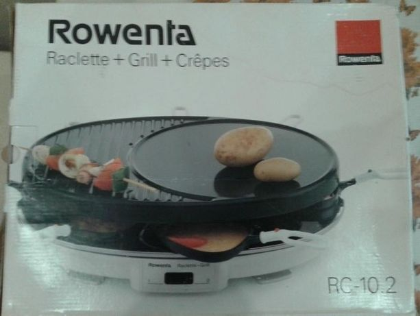 Rowenta. RC-10.2 Raclette + Grill + Crepes.