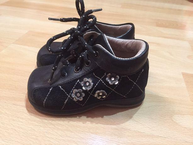 Шкіряні італійські ботіночки для дівчаток, кожаные ботинки 20 раз