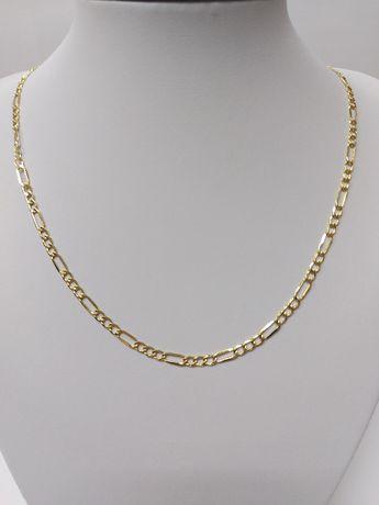 Złoty łańcuszek w splocie figaro próba 585 komunia