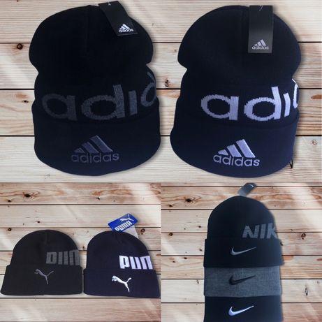 Мужские вязаные шапки Adidas Nike Jordan Puma