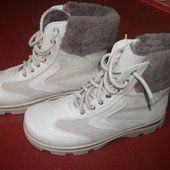 Полностью кожаные зимние ботиночки 39р. по типу timberland