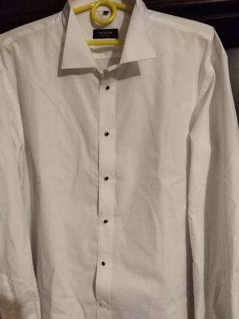 Koszula biała z guzikami pinezkami xxl