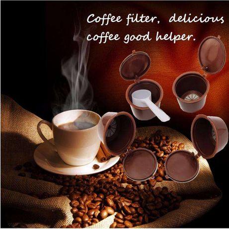 Kit 4 cápsulas de café dolce gusto reutilizáveis até 200 vezes