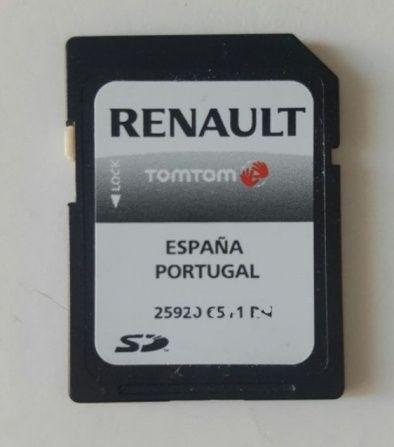 GPS Carminat Renault Portugal Espanha (Cartão SD) mapa NOVEMBRO 202