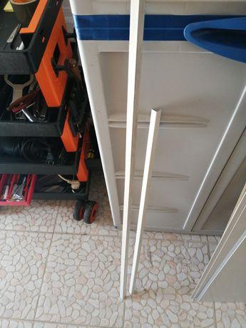 Perfis plásticos 100cm e 90cm