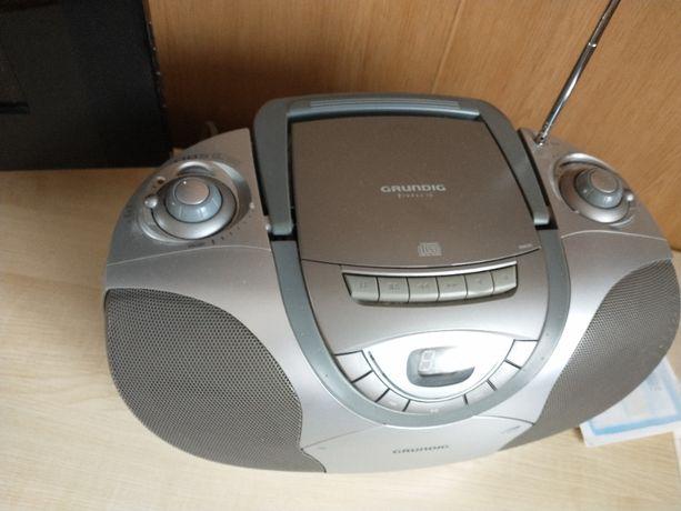 GRUNDIG MAGNETOFON-odtwarzacz cd-RADIO-srebrny-zgrabny