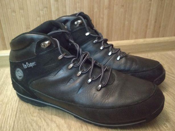 Ботинки черные Lee Cooper 45-46, Стелька 30,5 см кожанные