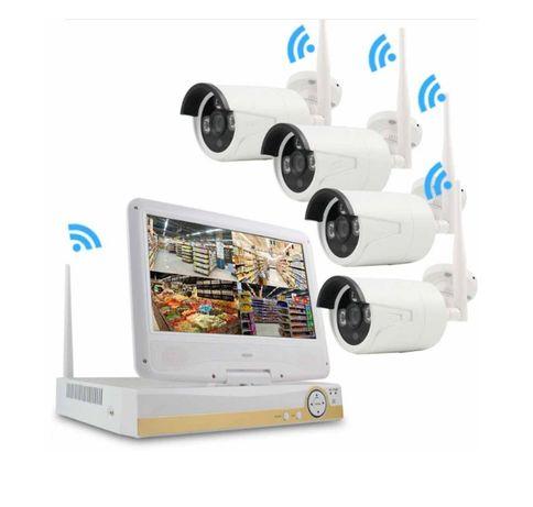 Kit Vídeo Vigilância com ECRA WIFI Profissional 4 Cameras Exterior