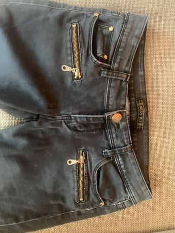 Spodnie czarny marmurek M